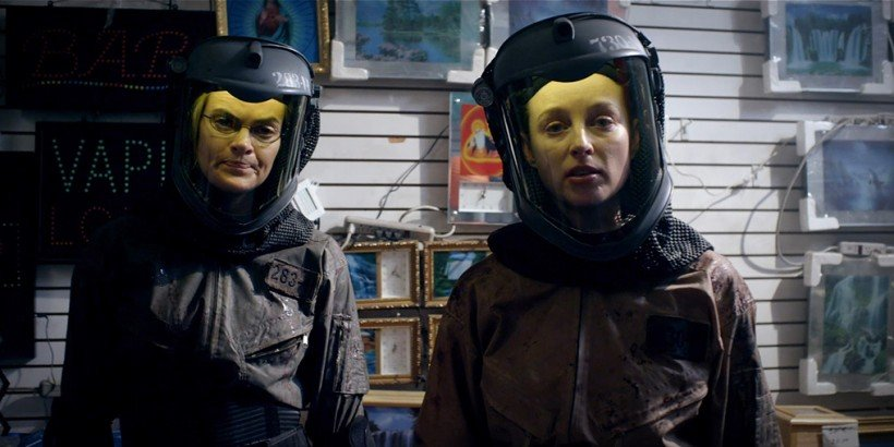(L-R) Missi Pyle as Denise and Rachel Nichols as Lauren in the sci-fi action film