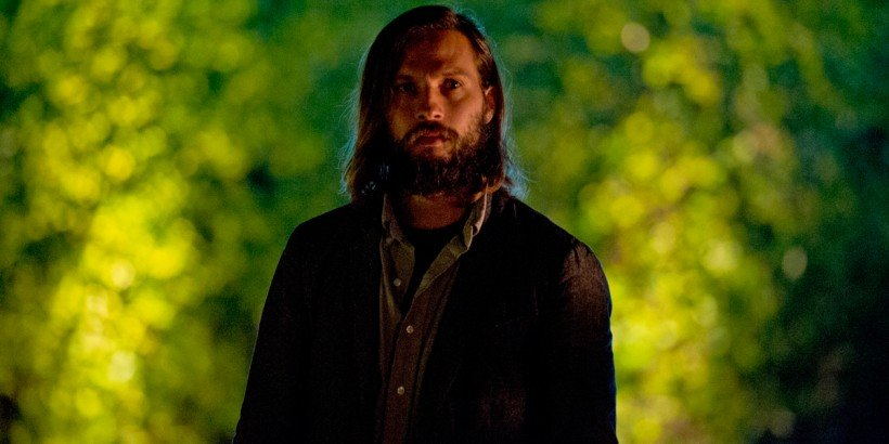 Will (Logan Marshall-Green) sees something he shouldn't outside his hosts' home in Drafthouse Films' The Invitation. Courtesy of Drafthouse Films.