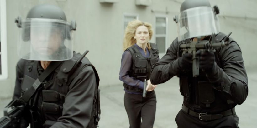 Image from the thriller film THE LAST HEIST an XLrator Media release. Photo courtesy of XLrator Media.
