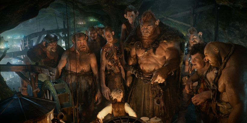 (Left to right) Gizzardgulper, Childchewer, Maidmasher, Bloodbottler, Manhugger, Fleshlumpeater, Meatdripper, Butcherboy, and Bonecruncher surround the BFG in Disney's THE BFG, the imaginative story of a young girl named Sophie (Ruby Barnhill) and the Big Friendly Giant (Oscar (R) winner Mark Rylance) who introduces her to the wonders and perils of Giant Country. Directed by Steven Spielberg based on Roald Dahl's beloved classic, the film opens in theaters nationwide on July 1.