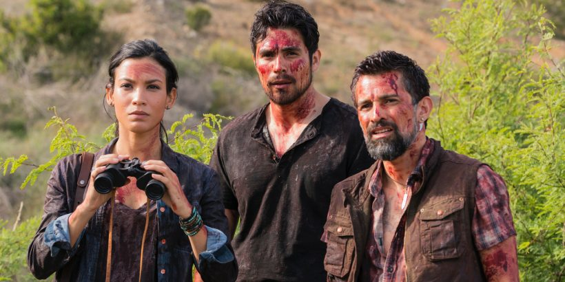 Danay-Garcia-as-Luciana-Alfredo-Herrera-as-Francisco-Scout-Carlos-Sequra-as-Scout-Fear-The-Walking-Dead-Season-2-Episode-8
