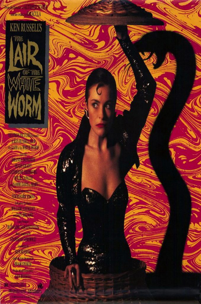 movie poster for The Lair of the White Worm