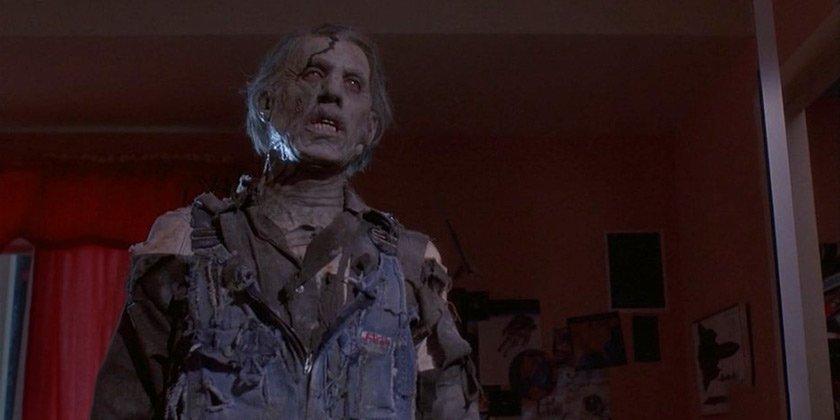 A singular zombie workman