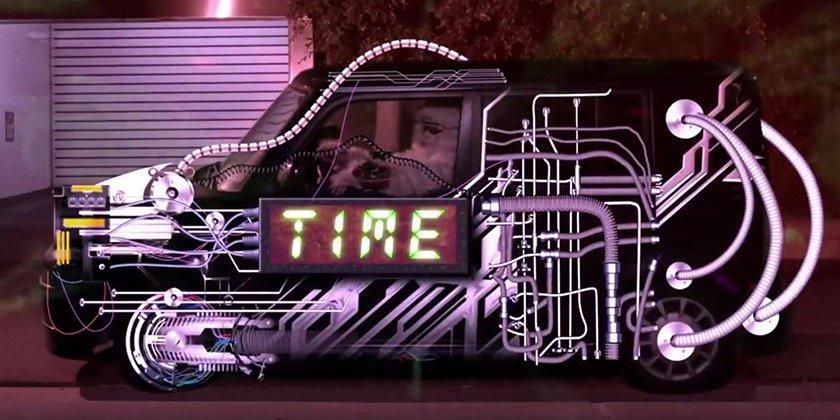 A yeti in a time machine