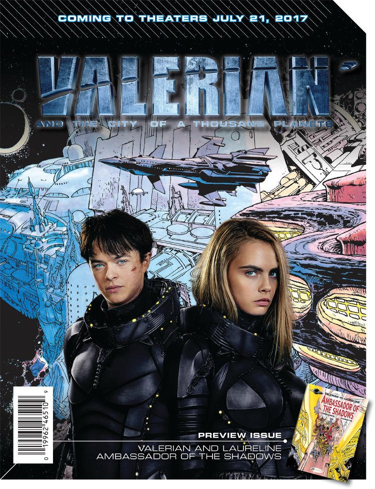 Cover of the Free Comic Book Day tie in to Valerian and the City of a Thousand Planets