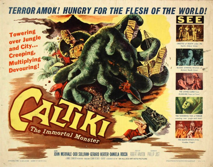 Caltiki: The Immortal Monster - poster